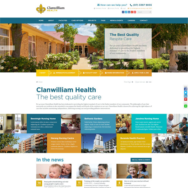 Clanwilliam Health website