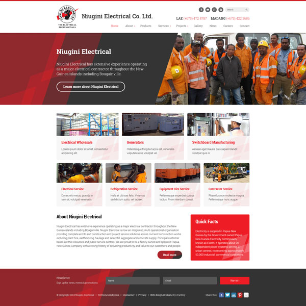 Niugini Electrical website