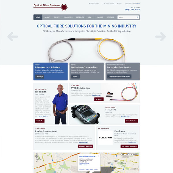 Optical Fibre Systems website